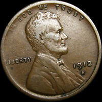 1912-D LINCOLN CENT WHEAT CENT ---  --- U703