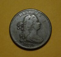 1806 DRAPED BUST HALF CENT, VF    WONDERFUL COIN IN HAND