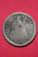 CULL 1841 O SEATED LIBERTY HALF DIME EXACT COIN SHOWN FLAT RATE SHIPPING OCE 204