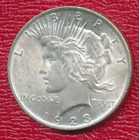 1923 PEACE SILVER DOLLAR CHOICE ABOUT UNCIRCULATED SHIPS FREE
