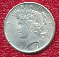 1925 PEACE SILVER DOLLAR CHOICE ABOUT UNCIRCULATED SHIPS FREE