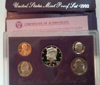 1992 S UNITED STATES MINT PROOF SET WITH KENNEDY HALF DOLLAR