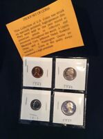 UNITED STATES PROOF SET OF COINS MIXED VALUE AND DATES