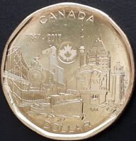 CANADA 2017 CANADIAN LOONIE 1 ONE DOLLAR  150 SERIES  CONNECTING A NATION COIN.