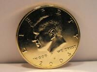 2004 UNCIRCULATED BRILLIANT & PRICE GOLD TONED KENNEDY HALF DOLLAR $0.50