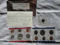 1996 US UNCIRCULATED MINT COINS SET WITH WEST POINT ROOSEVELT DIME