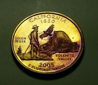 TONED 2005 S CLAD PROOF CALIFORNIA STATE QUARTER W26883