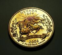 TONED 2006 S CLAD PROOF NEVADA STATE QUARTER W26891