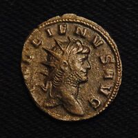 BILLON ANTONINIANUS EMPEROR GALLIENUS RV PROVID AVG  MILAN AD 265 6  2.72 GRAMS