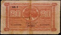 FINLAND   FINLANDS BANK TJUGU MARK  20  MARK NOTE 1939 P 71
