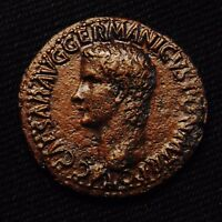 ROMAN IMPERIAL AE AS EMPEROR CALIGULA RV. VESTA   MINT OF ROME AD 38 42