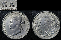 MARCH MADNESS   CANADA 25 CENTS   1872H   REPUNCHED NA IN CANADA   EF  G18