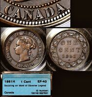 MARCH MADNESS   CANADA LARGE CENT   1881H DOUBLED LEGEND OBVERSE  N044C