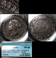 MARCH MADNESS   CANADA LARGE CENT   1891 SMALL DATE SMALL LEAVES WRONG T  N128