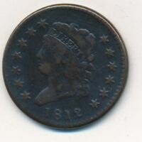 1812 CLASSIC HEAD COPPER LARGE CENT-  CIRCULATED LARGE CENT-SHIPS FREE