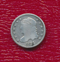 1834 CAPPED BUST SILVER HALF DIME FULL