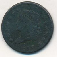 1812 CLASSIC HEAD LARGE CENT- CIRCULATED COPPER COIN-SHIPS FREE INV:3