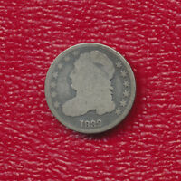 1832 CAPPED BUST SILVER DIME LY TONED SHIPS FREE