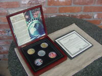 5 COIN SET 2006 SILVER EAGLE ULTIMATE 20TH ANNIVERSARY HOLOGRAM .999 PURE SILVER