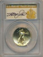 2009 GOLD ULTRA HIGH RELIEF $20-PCGS GRADED MS70-THOMAS S CLEVELAND SIGNED LABEL