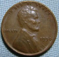 1950 P LINCOLN WHEAT CENT PENNY DIE ABRASION ERROR OVER ABRADING DIE ERROR