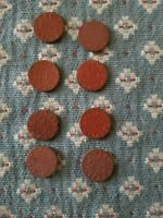 OPA RED TOKEN COINS  WWII HISTORY RATION ARTIFACT LOT OF 8.