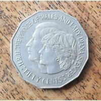 AUSTRALIA 1981 QUEEN ELIZABETH II   CHARLES & DIANA ROYAL WEDDING 50 CENT  COIN
