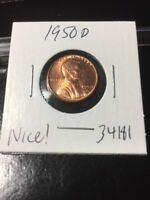 1950 D LINCOLN CENT NICE  34181