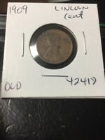 1909 LINCOLN CENT OLD  42418