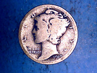 1919 S 10C MERCURY SILVER DIME IN   GOOD CONDITION
