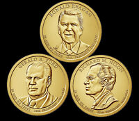 A 2016 PRESIDENTIAL DOLLAR THREE  3  COIN SET