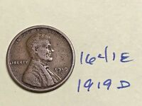 1919 D LINCOLN CENT   FROM THE PREMIUM WHEAT COLLECTION 1641E