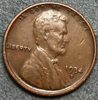 1934 D EXTRA FINE  EXTRA FINE LINCOLN WHEAT CENT PENNY. L422 FREE SHIP