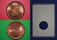 1948 P BU LINCOLN WHEAT CENT WITH DIY SLAB FROM BANK ROLL FLAT RATE SHIPPING