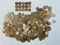 3LB 6OZ LOT OF WHEAT PENNIES MIXED YEARS 1917 1919 1944 RED