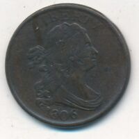 1806 DRAPED BUST HALF CENT-INCREDIBLY  CIRCULATED TYPE COIN-SHIPS FREE INV4