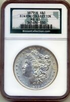 1879-S BINION COLLECTION HOARD PEDIGREE NGC MINT STATE 63 MORGAN SILVER DOLLAR