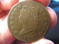 1810 CLASSIC HEAD LARGE CENT V.G. S-283  SHIPS FREE