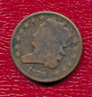 1829 CLASSIC HEAD HALF CENT   - CIRCULATED SHIPS FREE