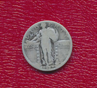 1927 STANDING LIBERTY SILVER QUARTER GOOD COIN SHIPS FREE