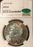 1879-S NGC MINT STATE 66 CAC MORGAN SILVER DOLLAR