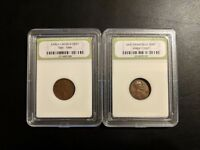 INB SLABBED 1946 D AND 1951 S U.S. LINCOLN WHEAT CENT
