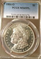 1884-O PCGS MINT STATE 65PL MORGAN SILVER DOLLAR