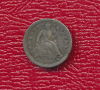 1854 SEATED LIBERTY SILVER HALF DIME FULL