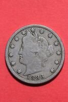 1883 LIBERTY V NICKEL NO CENTS EXACT COIN SHOWN FLAT RATE SHIPPING OCE 328