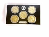 2010 LOT  5 USA QUARTERS CIRCULATED   YELLOWSTONE WYOMING   IN COIN CASE