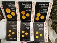AKERS UNITED STATES GOLD COIN ANALYSIS 6VOL $1 2.5 3 4 5 10 20 COMPLETE OUTPRINT