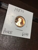 1987 S LINCOLN CENT PROOF 6241