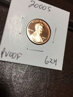 2000 S LINCOLN CENT PROOF 624