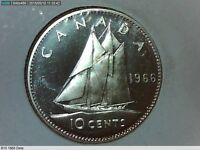 1966 CANADIAN SILVER DIME 10 CENTS  2094699